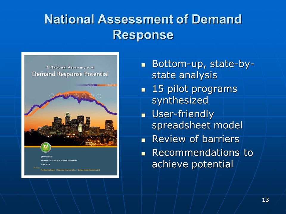 National Assessment of Demand Response