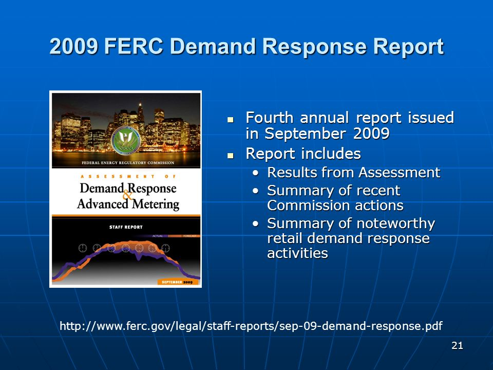 2009 FERC Demand Response Report
