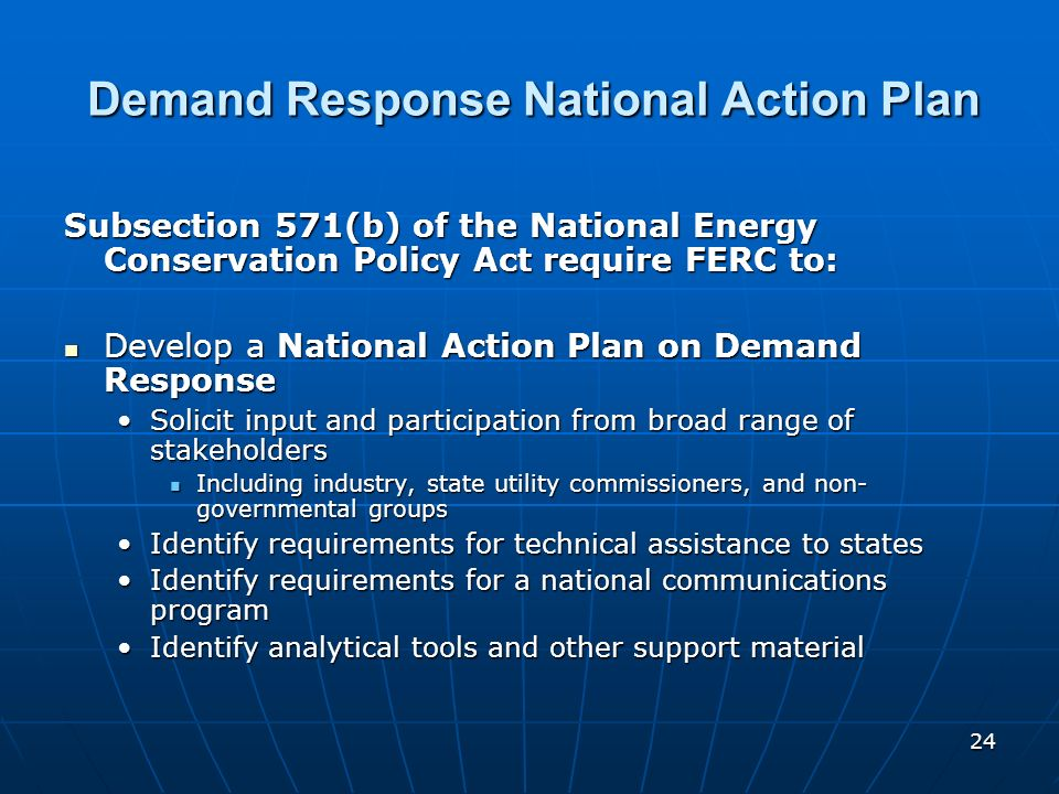 Demand Response National Action Plan