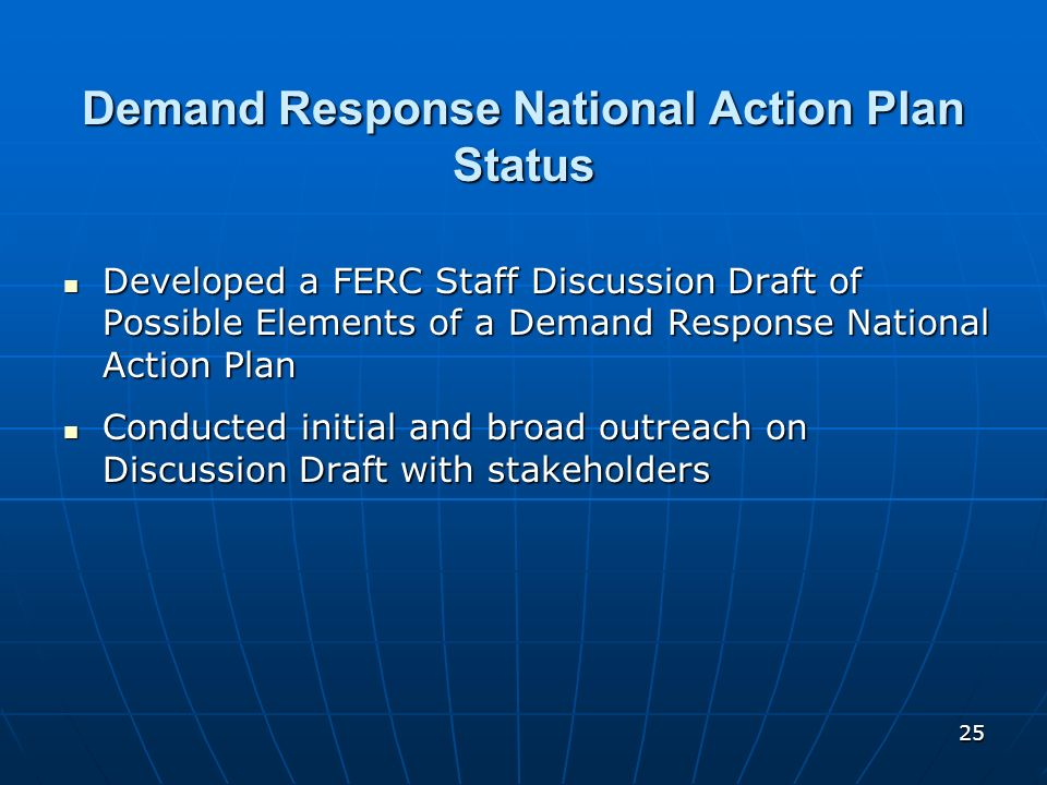 Demand Response National Action Plan Status