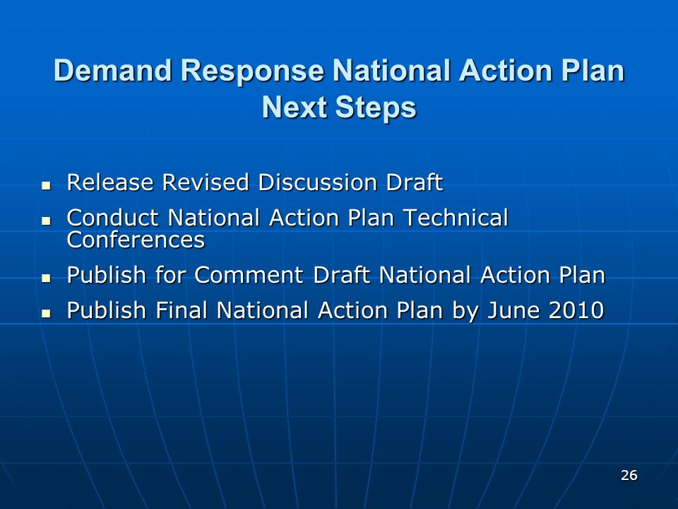 Demand Response National Action Plan Next Steps