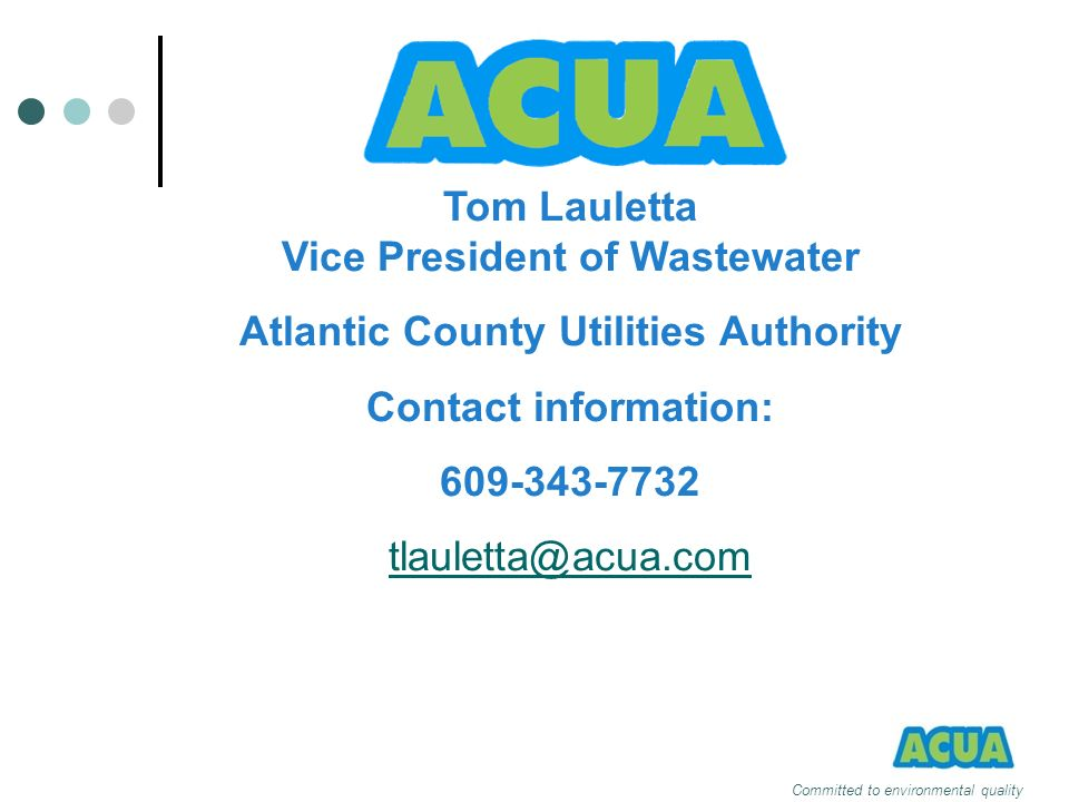 Tom Lauletta Vice President of Wastewater