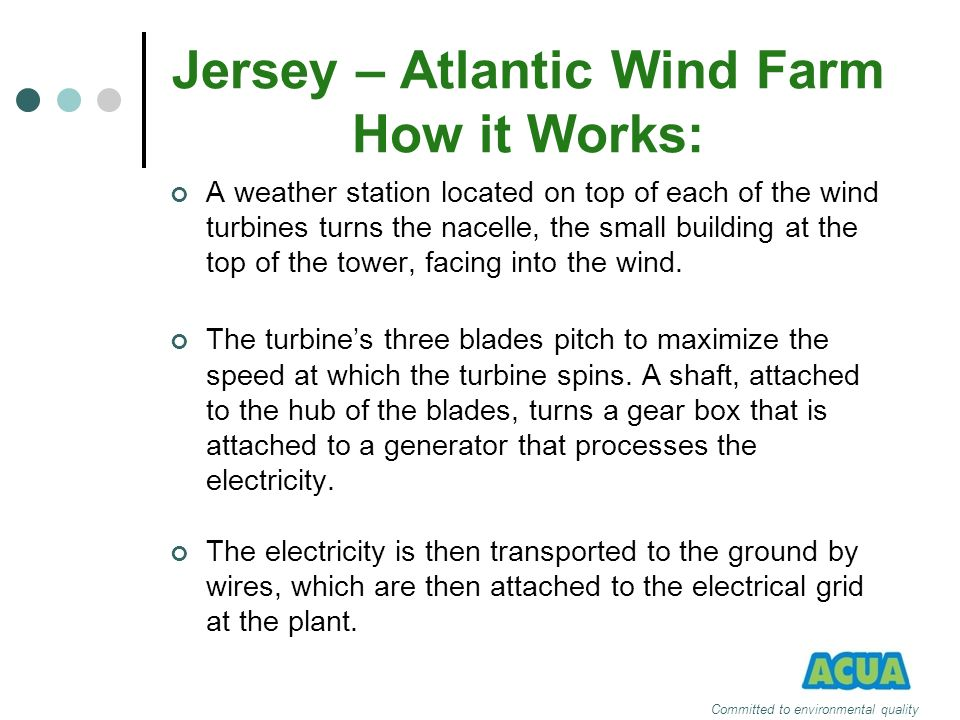 Jersey – Atlantic Wind Farm How it Works: