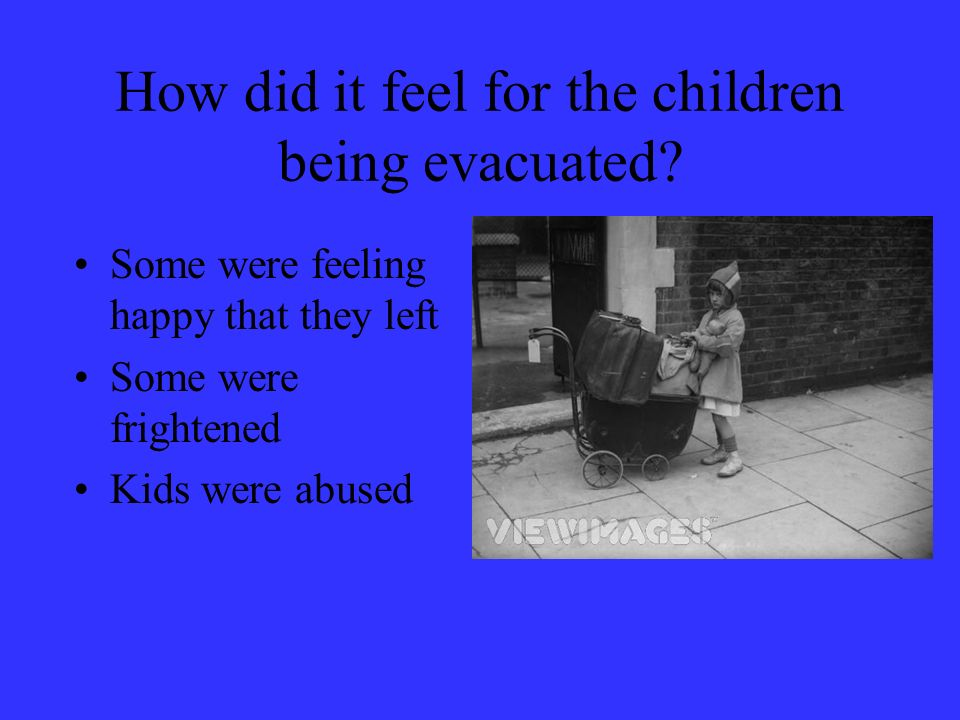 How did it feel for the children being evacuated