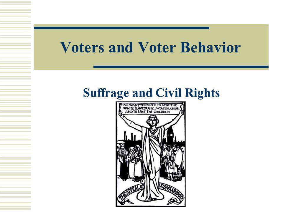 Voters and Voter Behavior
