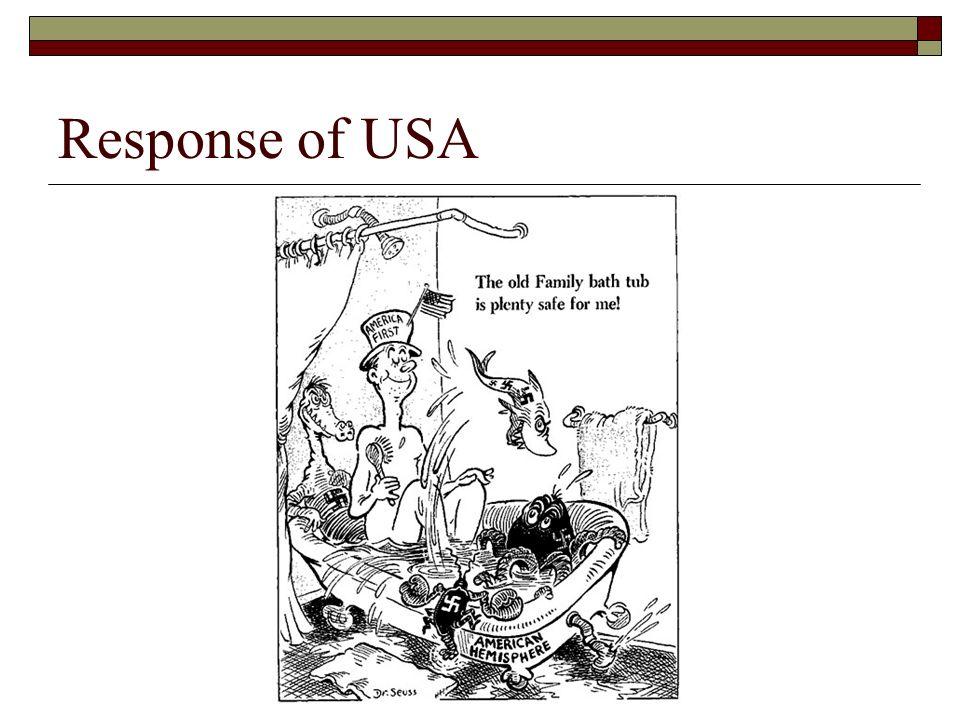 Response of USA