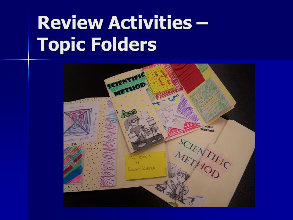 Review Activities – Topic Folders