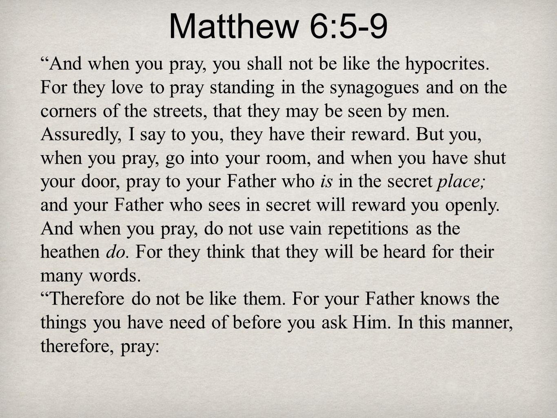 Matthew 6:5-9