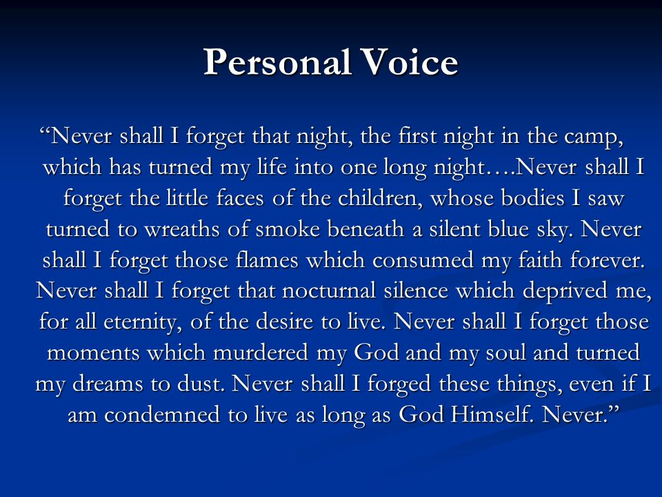 Personal Voice