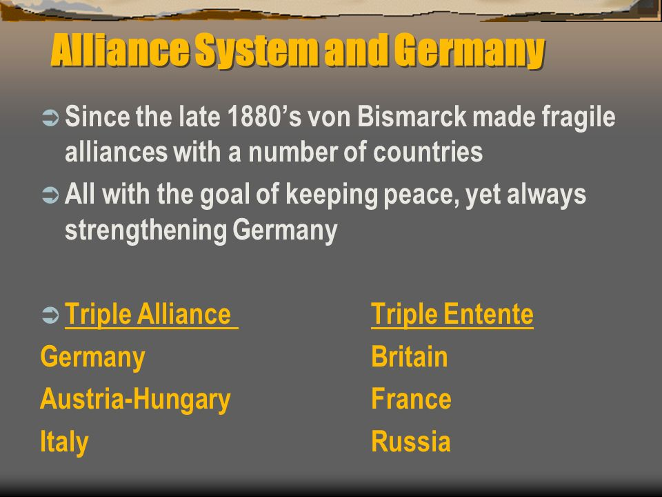 Alliance System and Germany