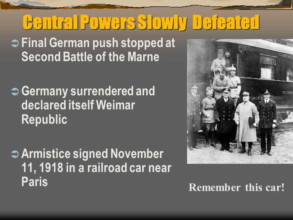 Central Powers Slowly Defeated