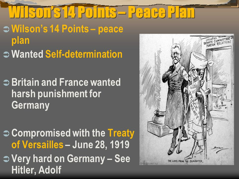 Wilson's 14 Points – Peace Plan
