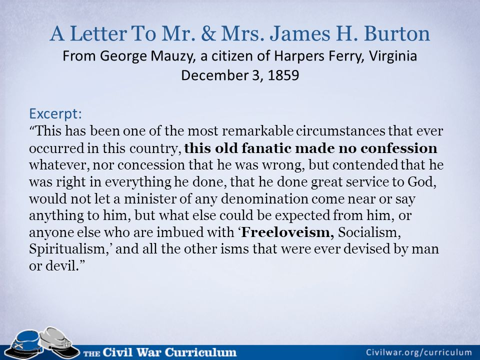 A Letter To Mr. & Mrs. James H