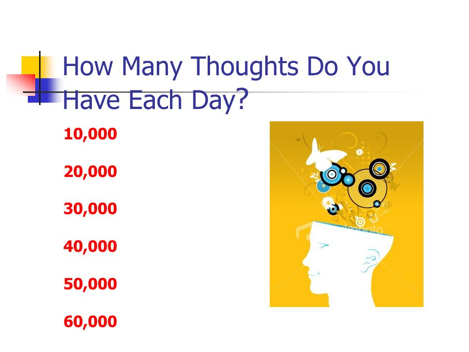 How Many Thoughts Do You Have Each Day