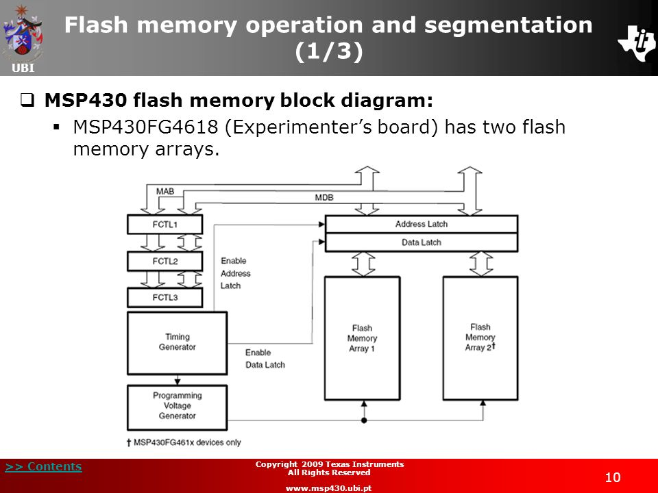 Flash memory operation and segmentation (1/3)