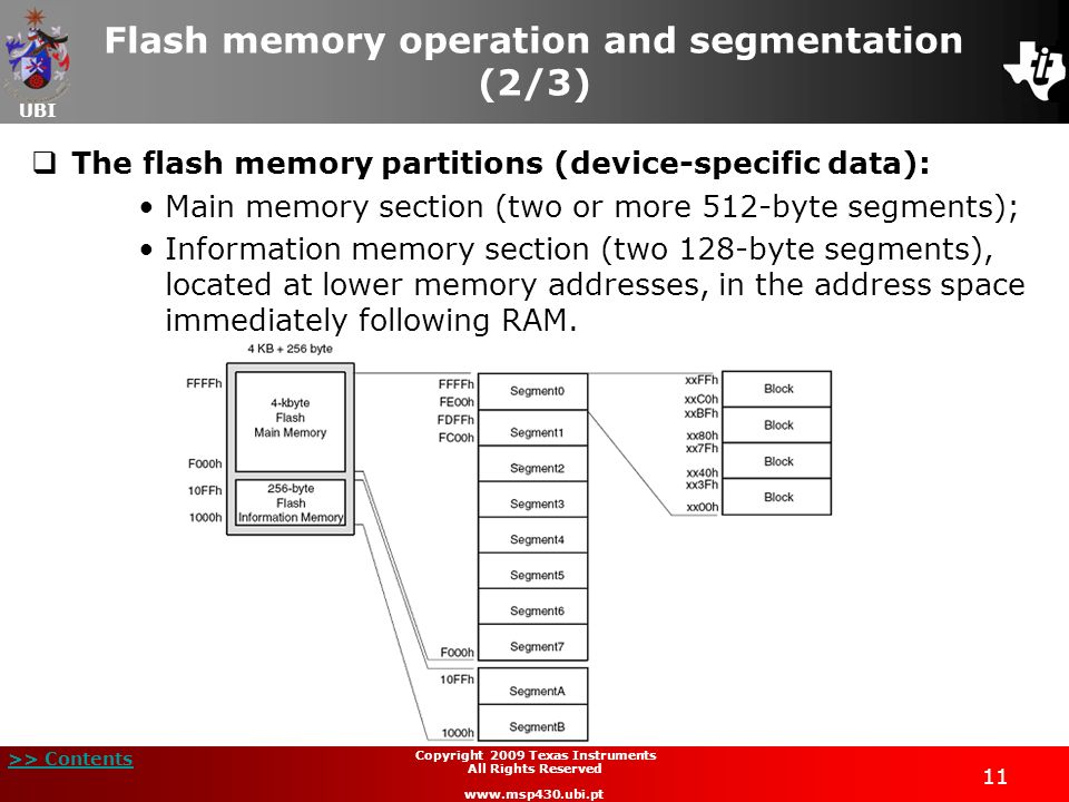 Flash memory operation and segmentation (2/3)