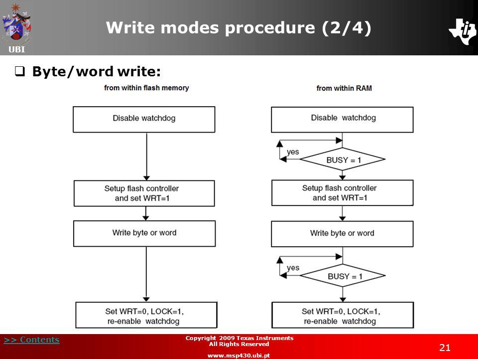 Write modes procedure (2/4)
