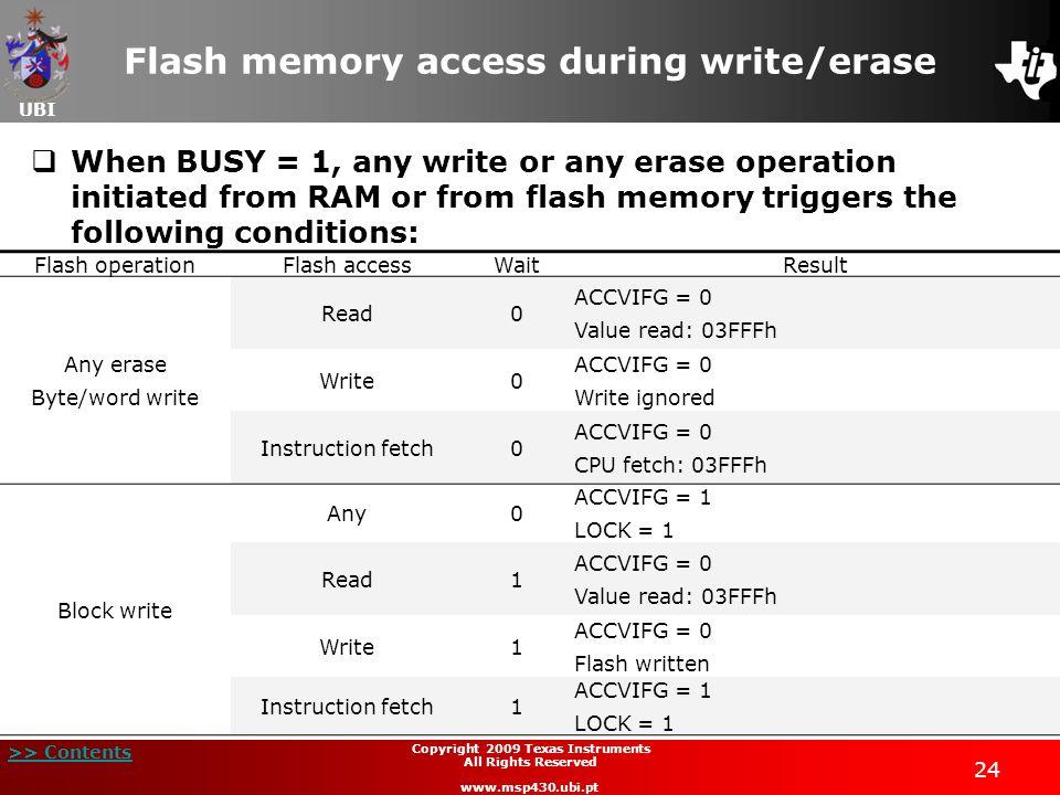 Flash memory access during write/erase