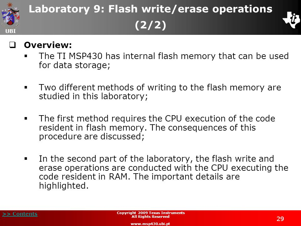 Laboratory 9: Flash write/erase operations (2/2)