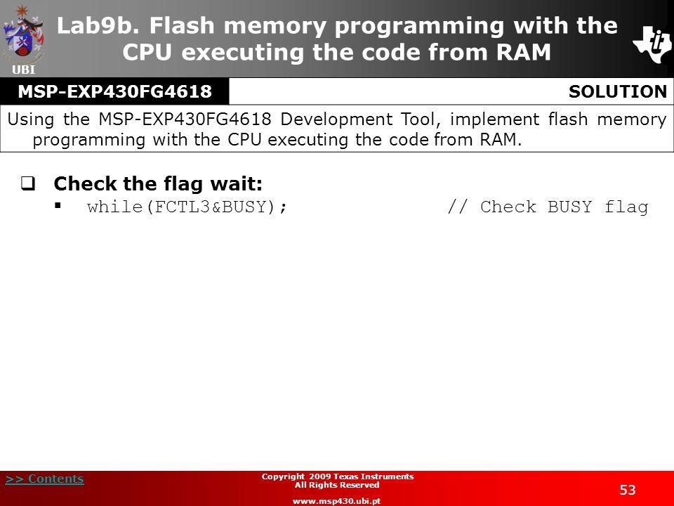 Copyright 2009 Texas Instruments