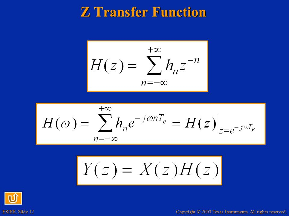Z Transfer Function