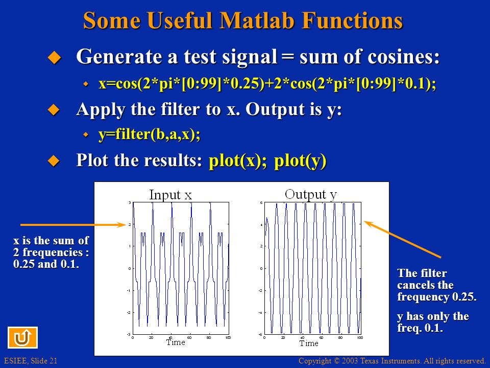 Some Useful Matlab Functions