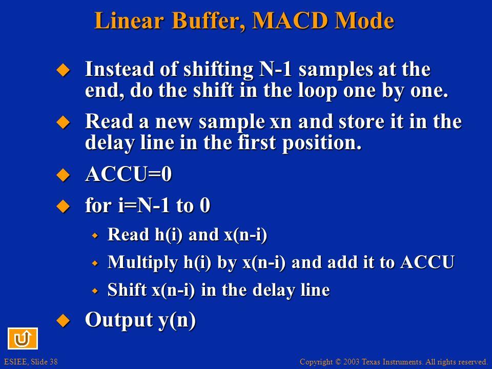 Linear Buffer, MACD Mode