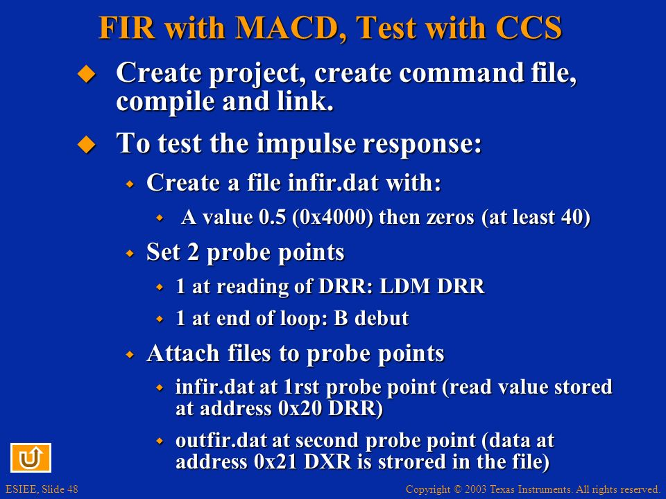 FIR with MACD, Test with CCS
