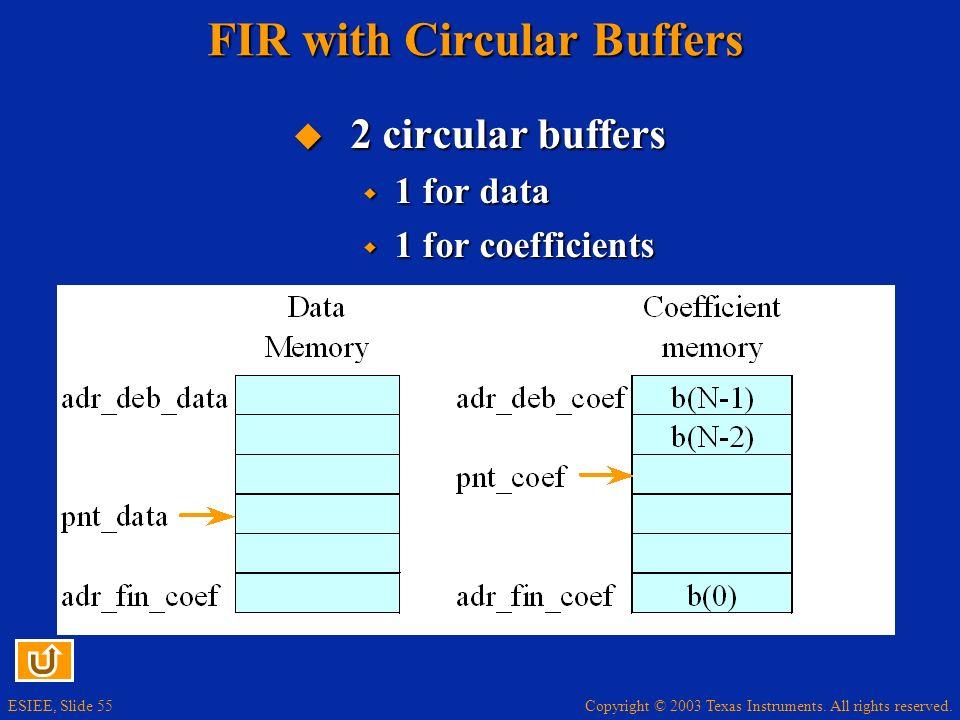 FIR with Circular Buffers