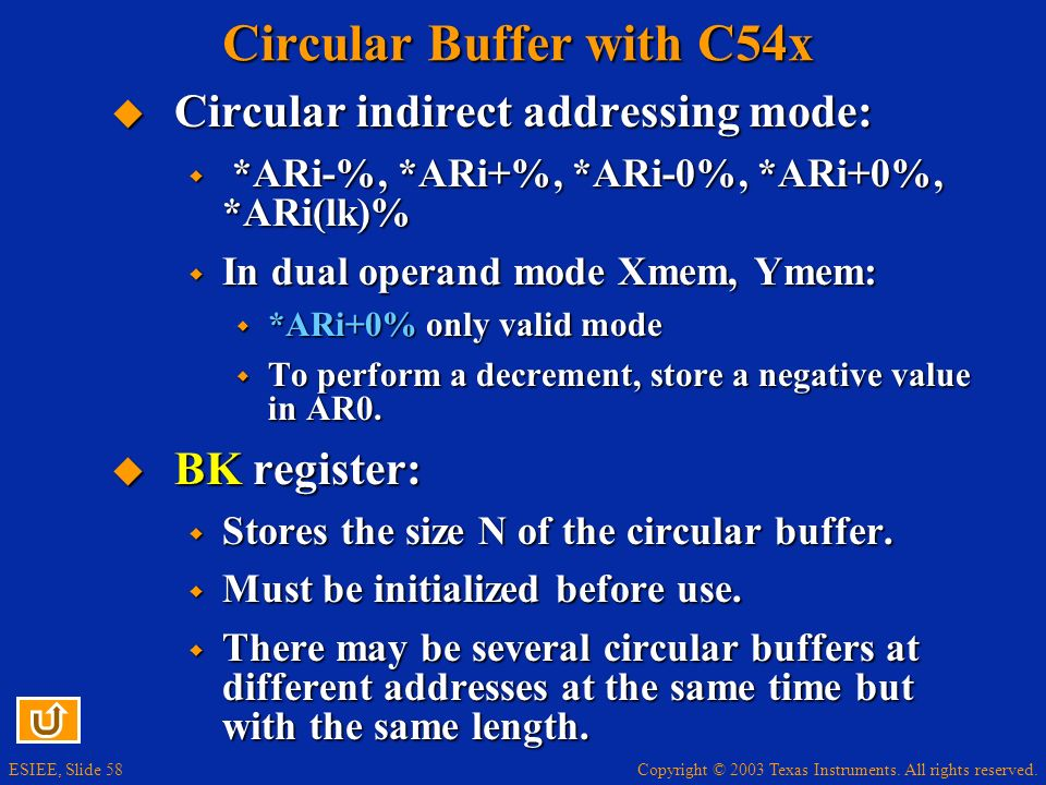 Circular Buffer with C54x