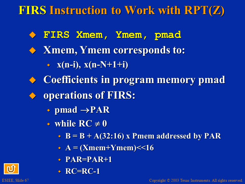 FIRS Instruction to Work with RPT(Z)