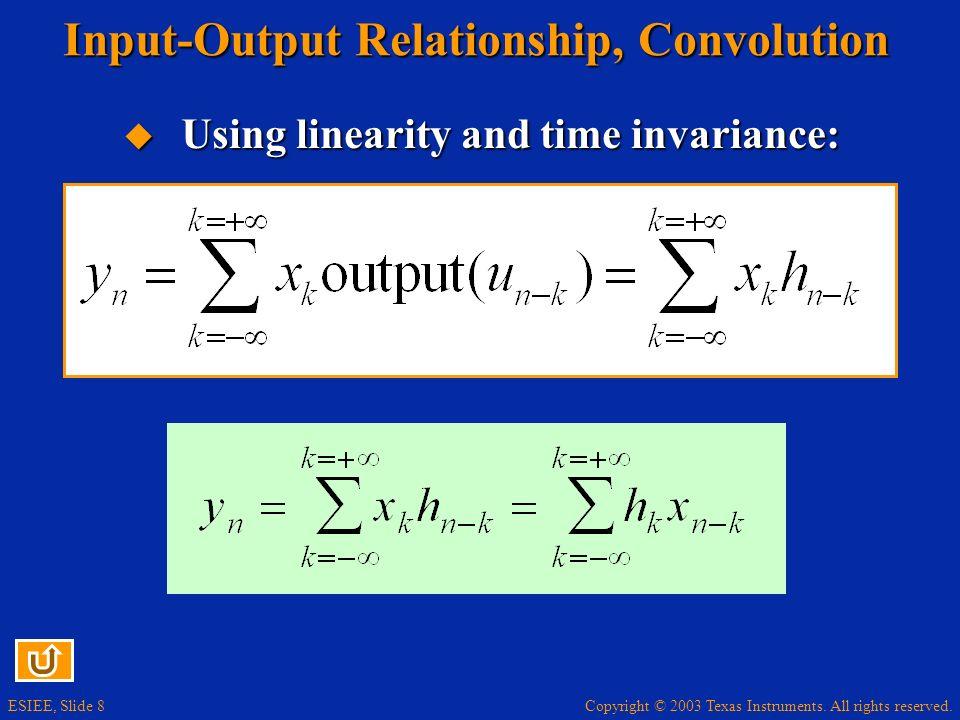 Input-Output Relationship, Convolution