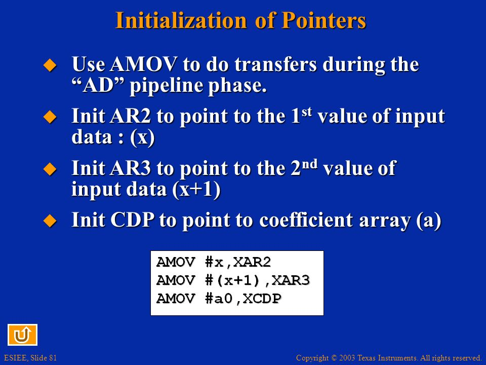 Initialization of Pointers