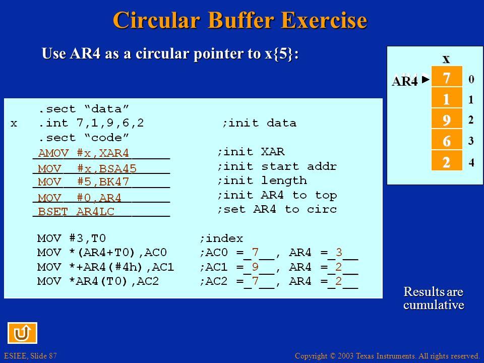 Circular Buffer Exercise