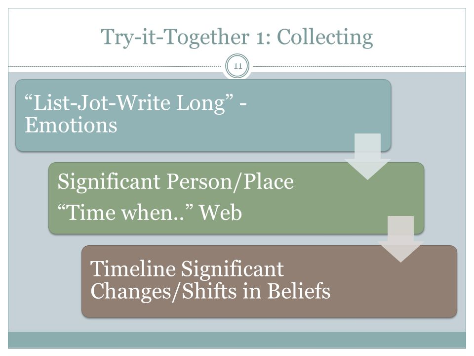 Try-it-Together 1: Collecting