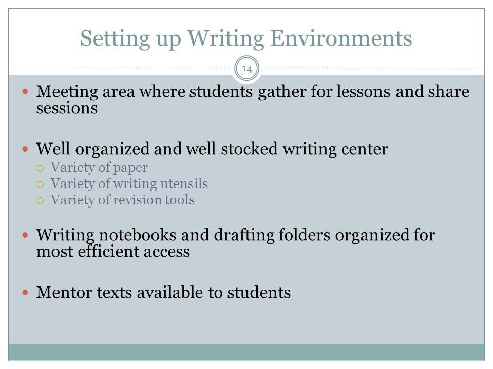 Setting up Writing Environments
