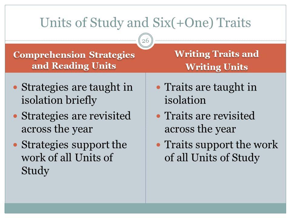 Units of Study and Six(+One) Traits