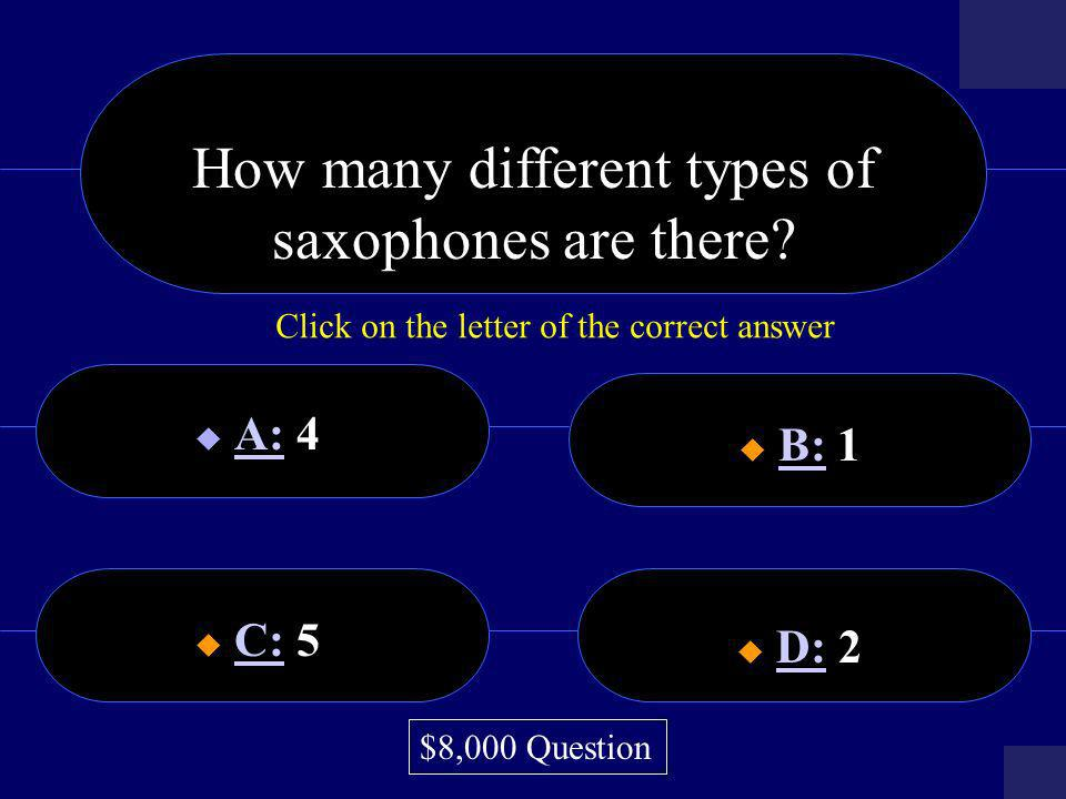 How many different types of saxophones are there