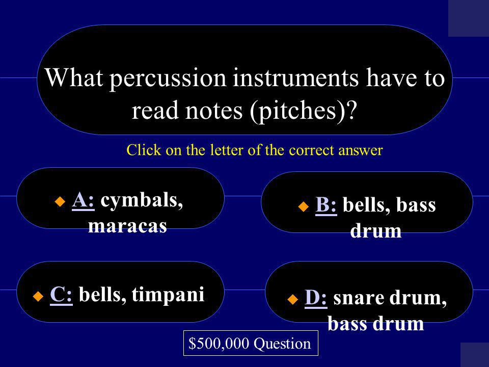 What percussion instruments have to read notes (pitches)