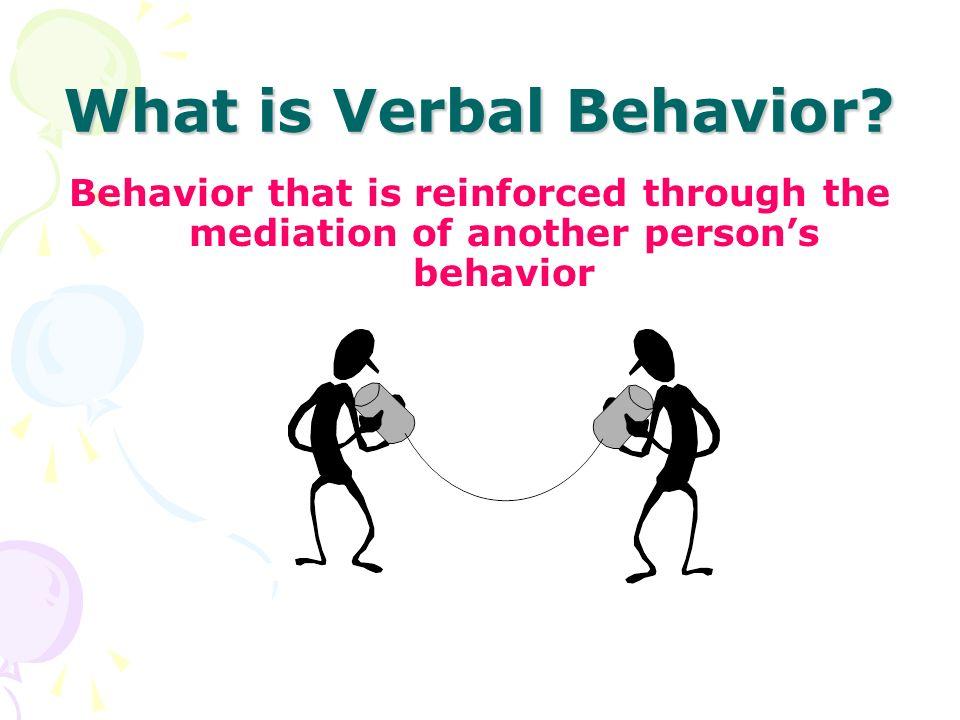What is Verbal Behavior