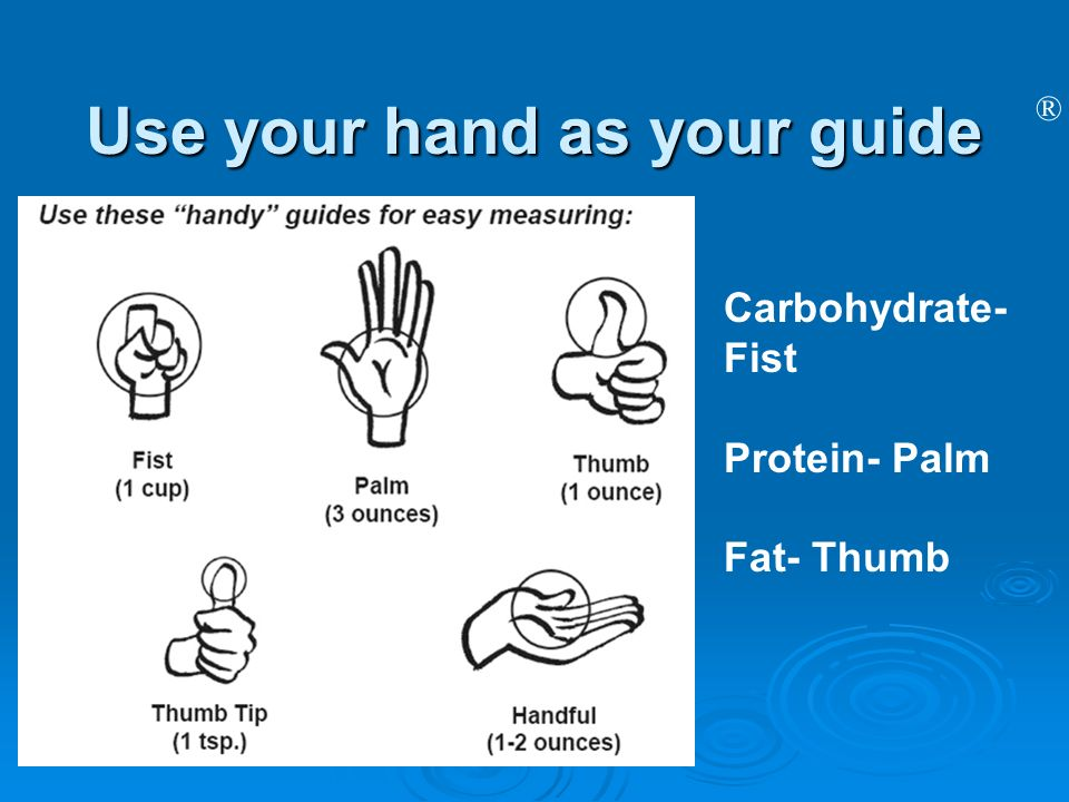 Use your hand as your guide