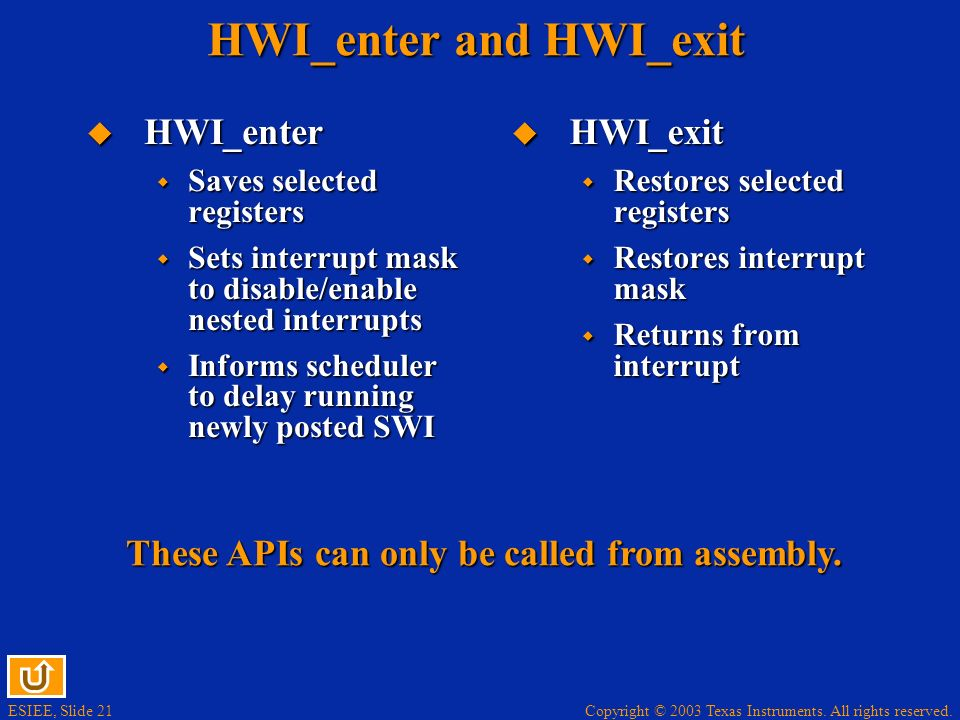 HWI_enter and HWI_exit