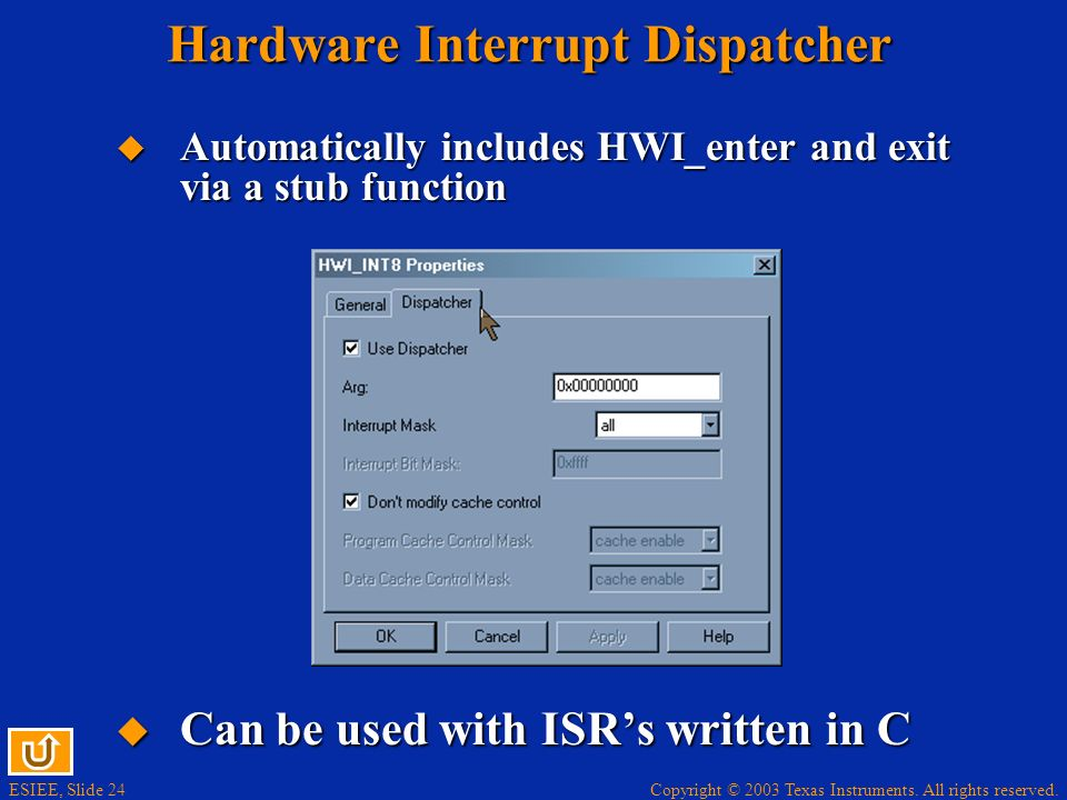 Hardware Interrupt Dispatcher