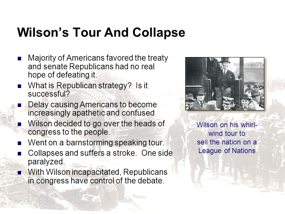 Wilson's Tour And Collapse