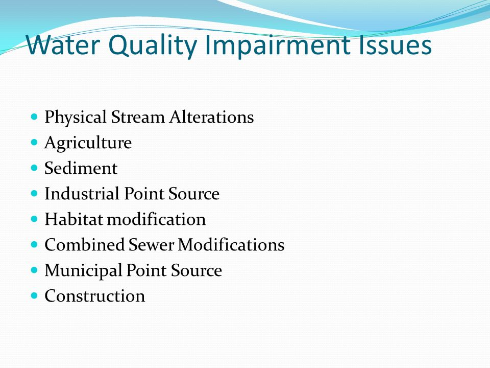 Water Quality Impairment Issues