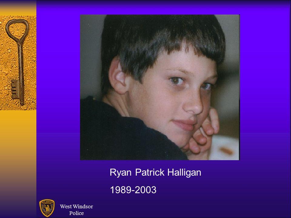 Ryan Patrick Halligan 1989-2003 West Windsor Police