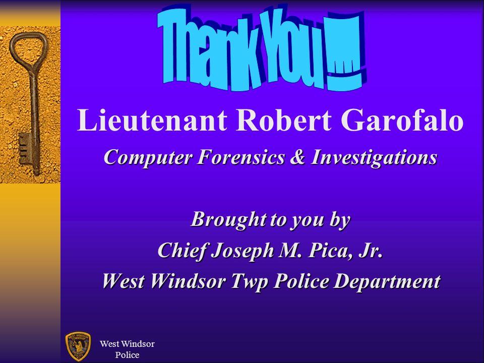 Lieutenant Robert Garofalo