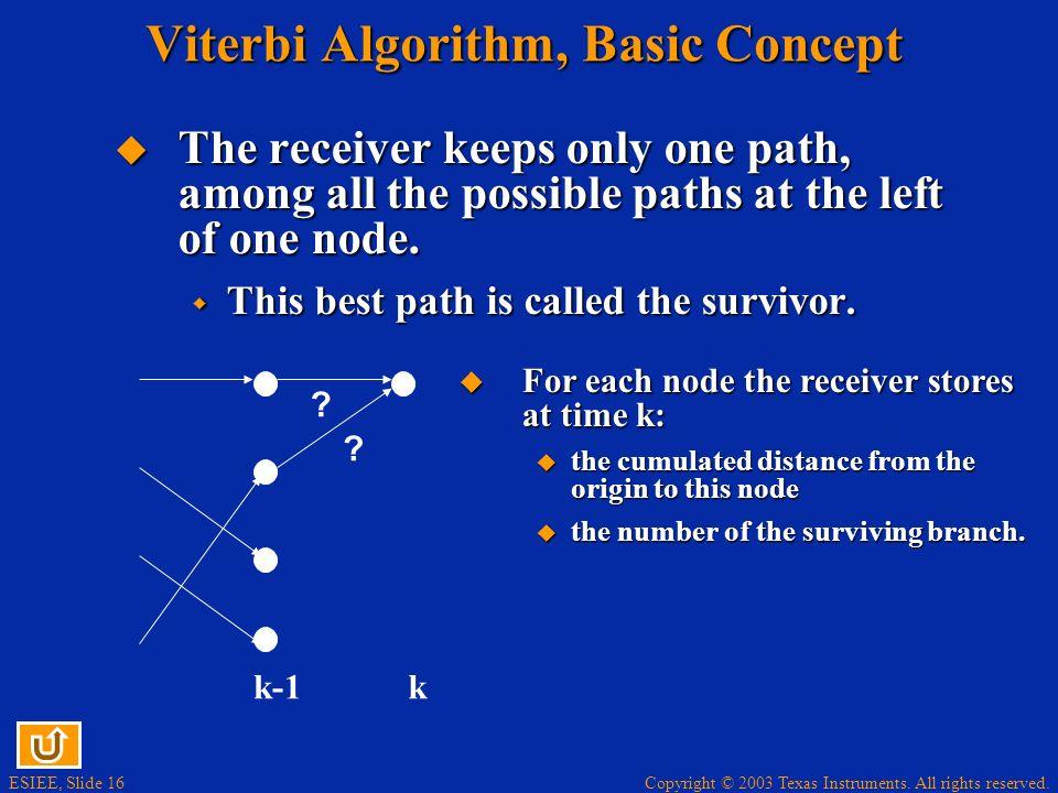 Viterbi Algorithm, Basic Concept