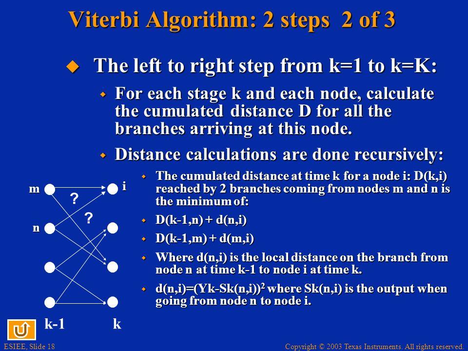 Viterbi Algorithm: 2 steps 2 of 3