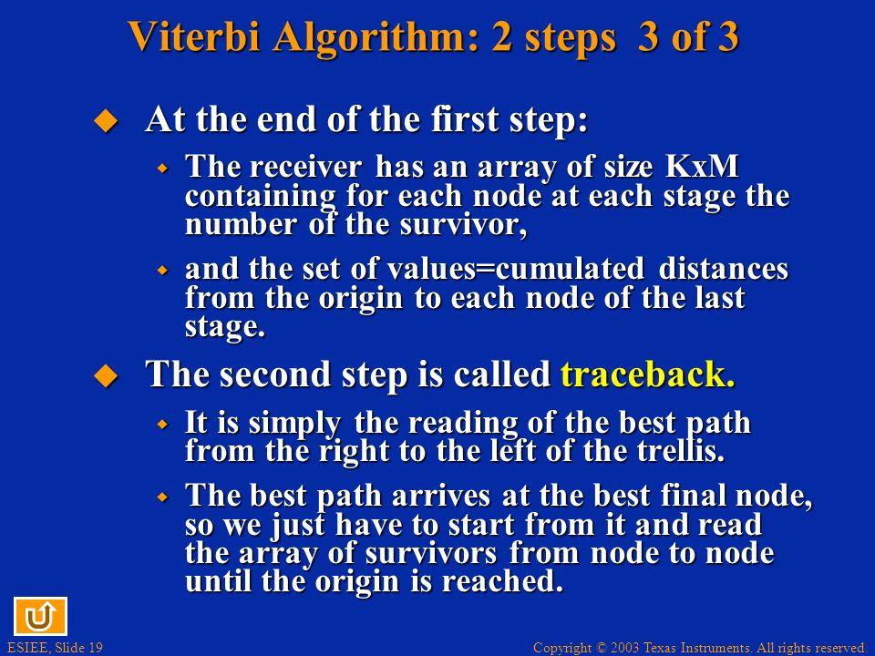 Viterbi Algorithm: 2 steps 3 of 3
